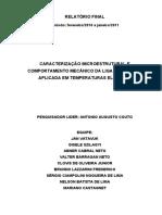 CARACTERIZAÇÃO MICROESTRUTURAL E COMPORTAMENTO MECÂNICO DA LIGA INCONEL 718