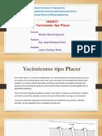 PLACERES - Yacimientos Por Concentracion Mecanica