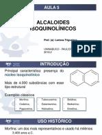 Aula 5_alcaloides Isoquinolínicos