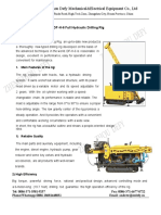 Specifications of DF-H-6 Drilling Rig