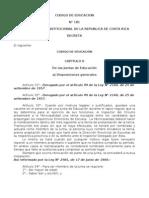 Codigo de Educacion (Resumen)