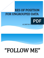 Measures of Position for Ungrouped Data