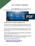 Prediksi Maroko vs Malawi 9 September 2018