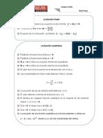 Formulas La Función Lineal y Cuadratica