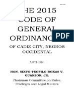 Omnibus City Ordinances of Cadiz City