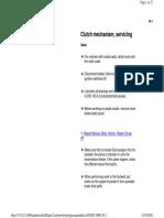 30-1 Clutch Mechanism Service