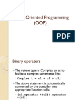 Object-Oriented Programming Binary Operators