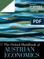 (Oxford Handbooks) Peter J. Boettke, Christopher J. Coyne-The Oxford Handbook of Austrian Economics-Oxford University Press (2015)