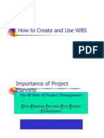How to Create and Use WBS