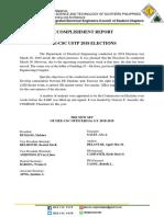 Accomplishment Report Elections IIEE CSC USTP