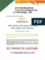 Anhanguera Prointer II Rh 2018