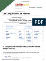Las Conjunciones en Alemán