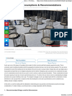 Pile Cap Design Assumptions & Recommendations