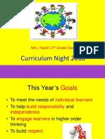 Curriculum Night 2018