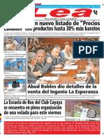 Periódico Lea Jueves 06 de Septiembre Del 2018