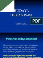 BUDAYA ORGANISASI Dan Etika