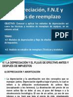 4.1Depreciación, FNE y Análisis de Reemplazo