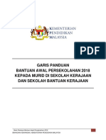 Garis Panduan Bantuan Awal Persekolahan 2018
