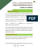 t1 Ecuaciones Fundamentales Para El Diseño de Tuberías