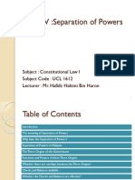 Topic IV  Separation of  Powers.pptx