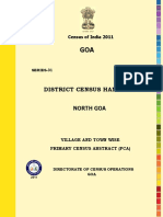 DISTRICT CENSUS HANDBOOK North Goa