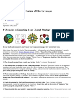 8 Obstacles to Executing Your Church Strategy – Will Mancini