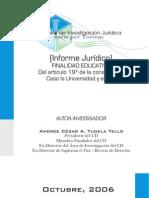 Informe Afecto IGV Caso Universidad