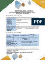 Guía de Actividades y Rúbrica de Evaluación de Danza - Paso 1 - Identificación de Conceptos