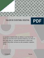 Taller de Escritura Creativa-Texto Literario