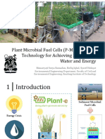 Plant Microbial Fuel Cells Technology for Achieving Sustainable Water and Energy