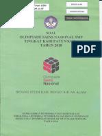2018 Soal Osk Ipa Smp 2018 Folder Osn
