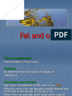 1- Fat and oil
