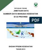 Juknis Pemetan Data Sdmk