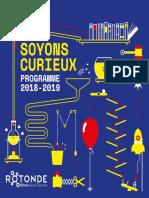 Programme 2018 2019 La Rotonde