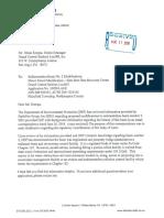 DEP Letter to Synagro/Waste Management in regards to sedimentation basin