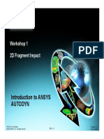 Ansys Autodyn 121 Workshop 01