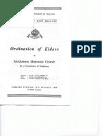 ord of elders 12 jan 1964