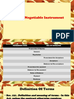 Life of a Negotiable Instrument