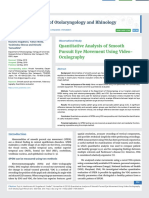 Quantitative Analysis of Smooth Pursuit Eye Movement Using Video- Oculography