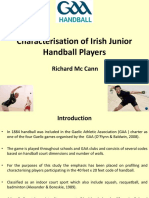 Richard McCann Characterisation of Irish Junior Handball Players