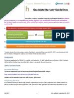 Bursary Process Guidelines_Fall 2017