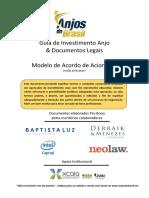 Anjos Do Brasil - Modelo de Acordo de Acionistas.