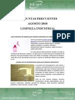 Preguntas Frecuentes Agosto 18 -  Limpieza Industrial