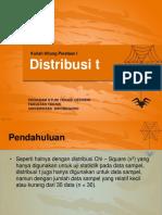 Distribusi t