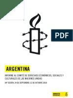 Informe de AI sobre Argentina