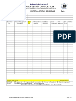 F 323 Material Status Schedule