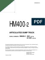 komatsu truck HM400-2+SEN00239-03D manual