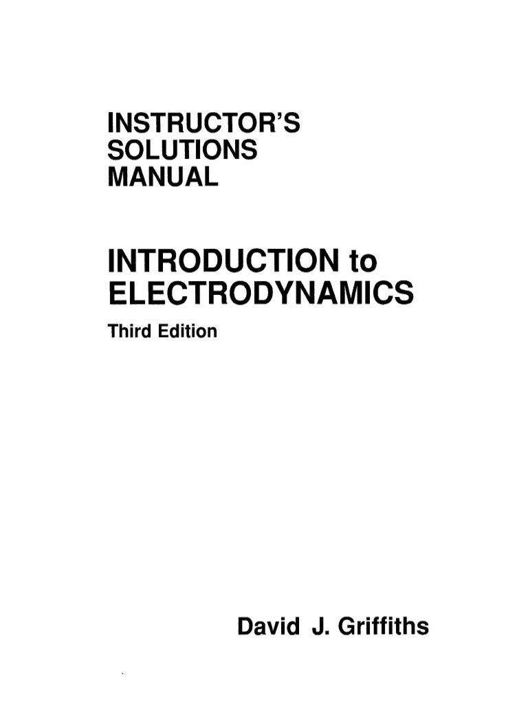 David J. Griffiths-Introduction to Electrodynamics