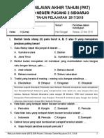 Soal Tema 7 Kls 5 PAT 2017 2018 (1)