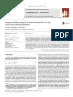 Progressive Failure Analysis of Shallow Foundations on Soils With Strain-softening Behaviour